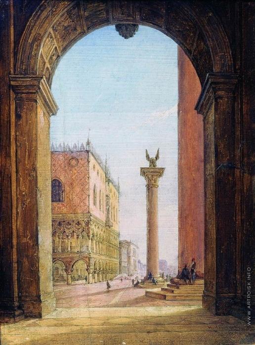 Чернецов Н. Г. Площадь Св.Марка в Венеции