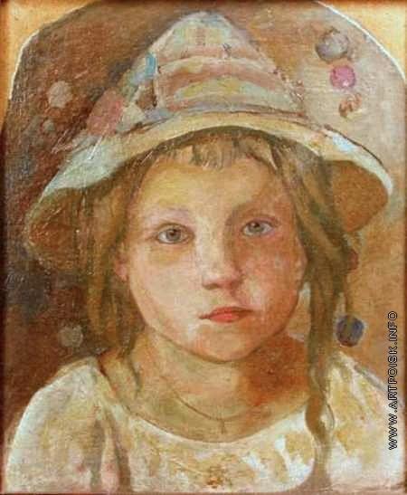 Честняков Е. В. Девочка в шляпе