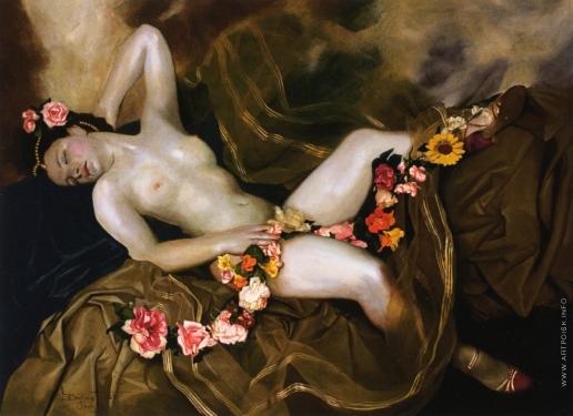 Чистовский Л. С. Обнажённая с цветочной гирляндой