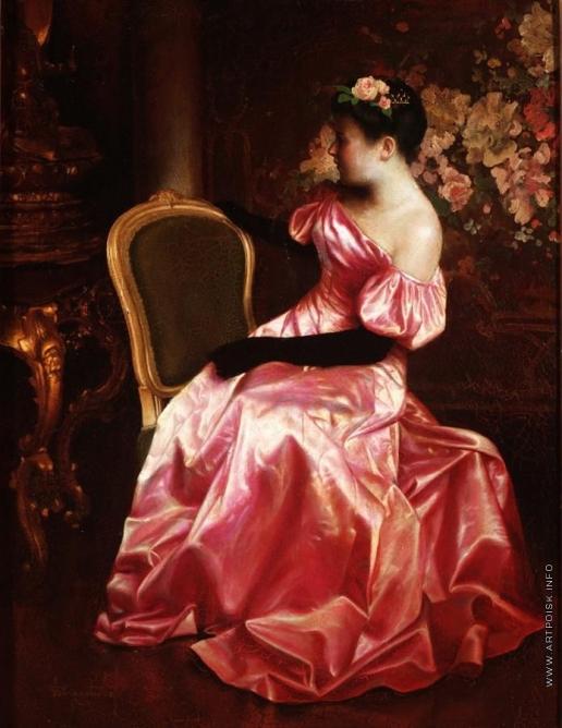 Чистовский Л. С. Портрет молодой женщины в вечернем платье