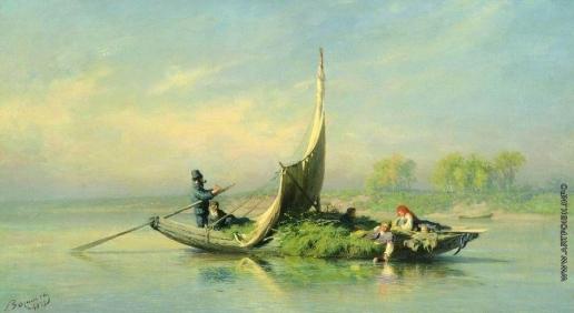 Васильев Ф. А. Крестьянская семья в лодке