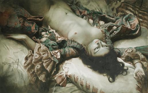 Чистовский Л. С. Спящая обнаженная