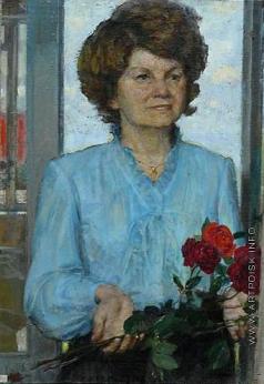 Цветков В. А. Портрет Галины Фоминой. «Люди, берегите розы!»