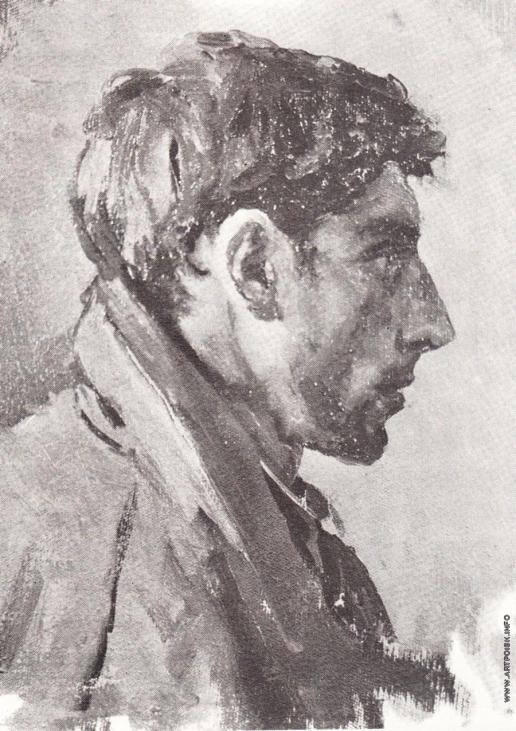 Коржев-Чувелев Г. М. Этюд к картине «В дни войны»