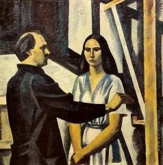 Иванов В. И. Автопортрет с дочерью