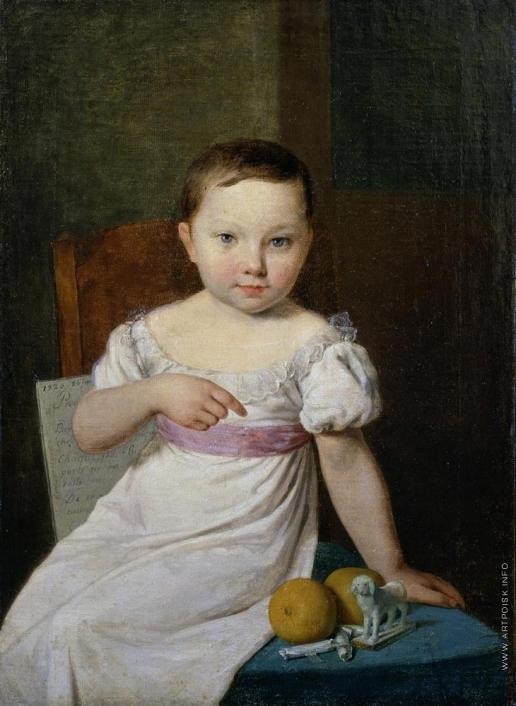 Венецианов А. Г. Портрет Настеньки Хавской