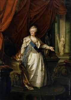 Лампи И. Б. Портрет императрицы Екатерины II с аллегорическими фигурами Крепости и Истины
