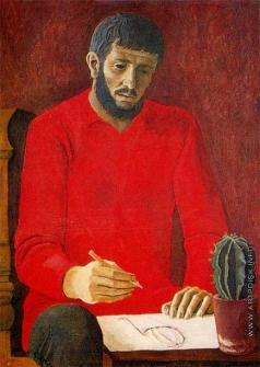 Филатчев О. П. Автопортрет в красной рубахе