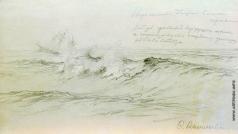 Васильев Ф. А. Море с кораблями. 1871-