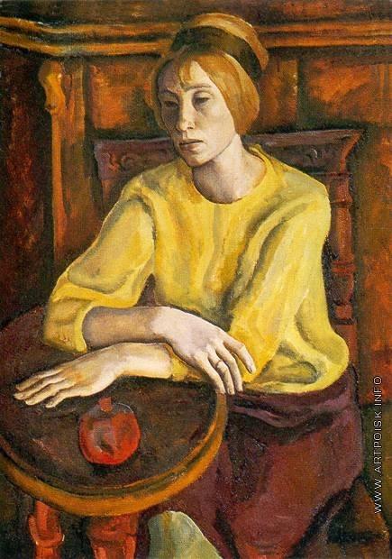 Филатчев О. П. Женский портрет в желтом