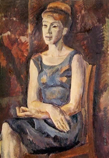 Филатчев О. П. Женский портрет в синем