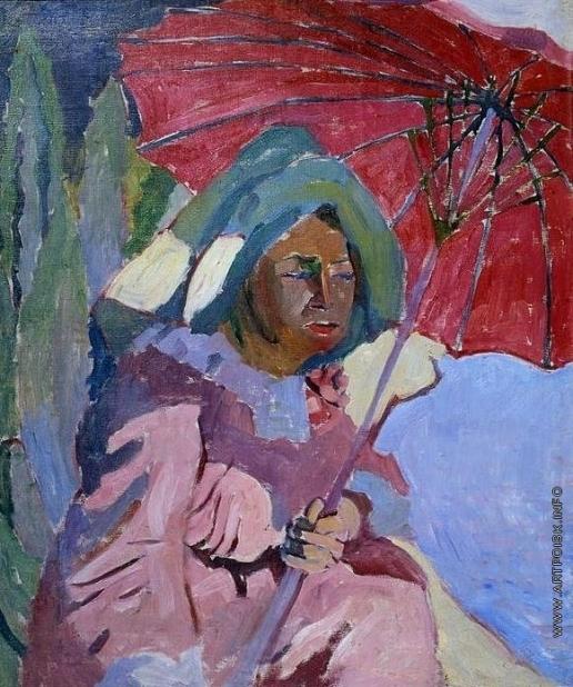 Лентулов А. В. Женщина под зонтом