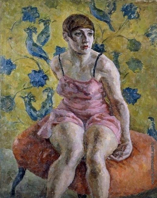 Осмеркин А. А. Женский портрет в розовой рубашке