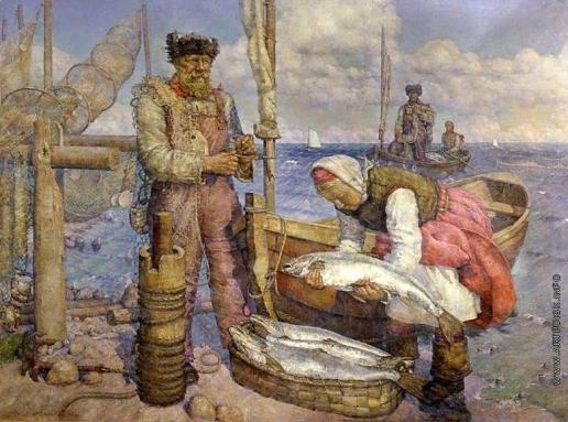 Рождественский В. В. Беломорская путина. Колхозный лов семги
