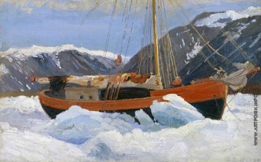 Борисов А. А. Судно во льдах (Яхта «Мечта»)
