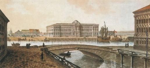 Траверс Ж. Вид на Академию художеств в Петербурге