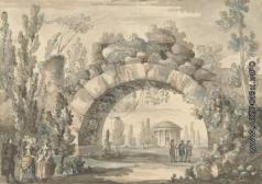 Кваренги Д. Парковый пейзаж с аркой