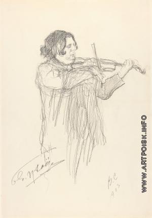 Серов В. А. Бельгийский скрипач Эжен Изаи