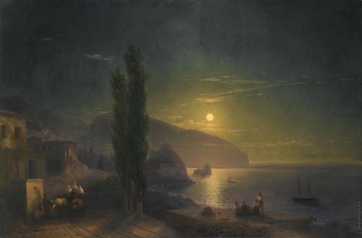 Айвазовский И. К. Восход луны над Аю-Дагом
