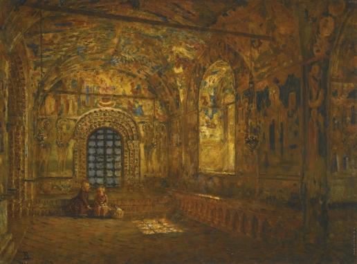Верещагин В. В. Паперть церкви