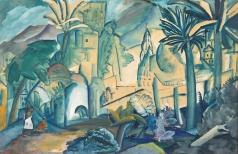 Кравченко А. И. Пейзаж с тремя пальмами. Индия
