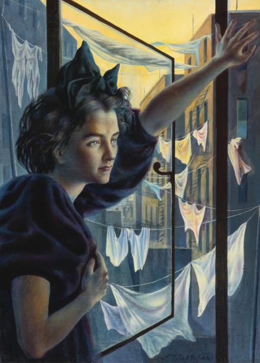 Челищев П. Ф. Женщина у окна