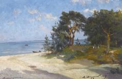 Беггров А. К. Пляж в Бигаунциемсе. Ливония