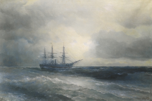Айвазовский И. К. Корабль на море