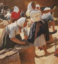 Яблонская Т. Н. Сбор урожая пшеницы на новых землях