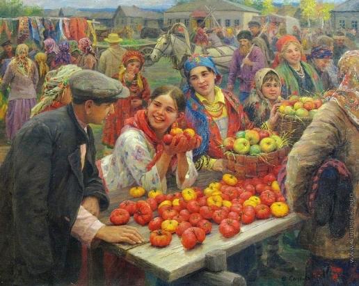 Сычков Ф. В. Колхоный базар