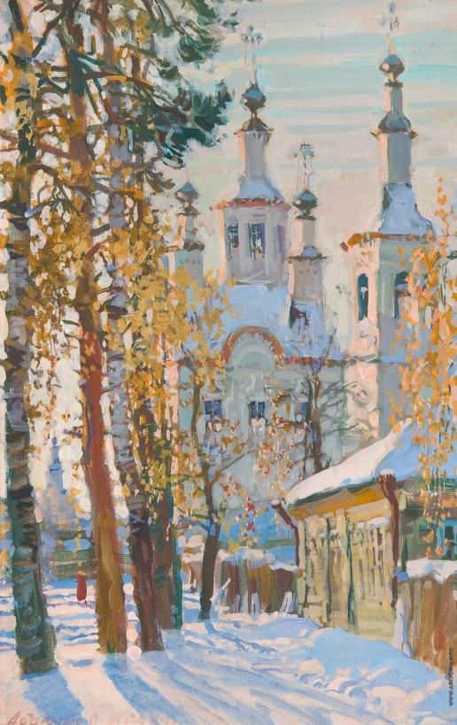 Абакумов М. Г. Этюд с церковью