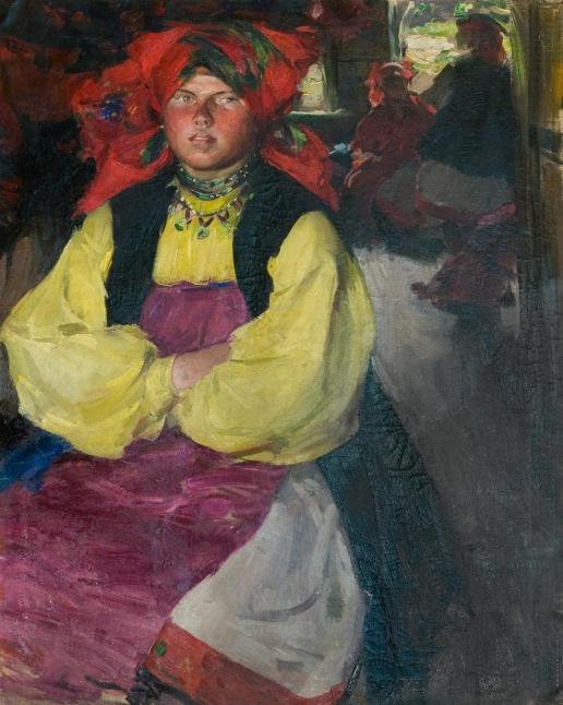 Архипов А. Е. Женщина в желтой рубахе.
