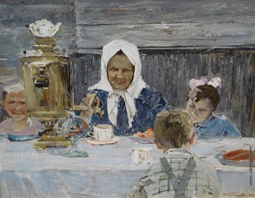 Баскаков Н. Н. Бабушка с внуками