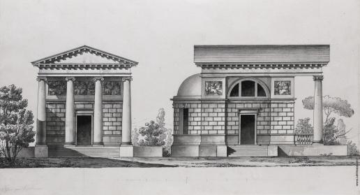Кваренги Д. Эскиз церкви Тутомлиных