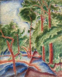 Бурлюк Д. Д. Пейзаж. Деревья