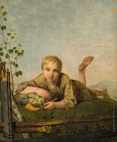 Венецианов А. Г. Пастушок с дудкой