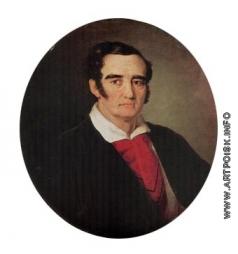 Тропинин В. А. Портрет художника Джузеппе-Коломбо Артари