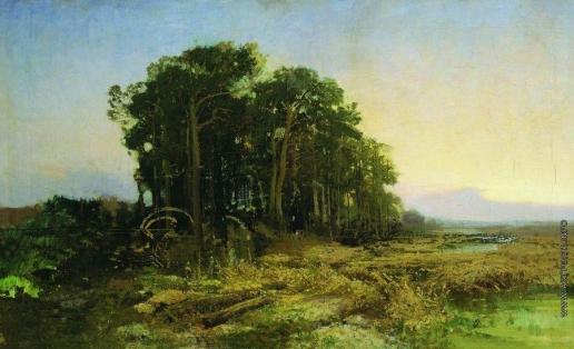 Васильев Ф. А. Сосновая роща у болота. 1871-