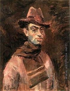 Фальк Р. Р. Автопортрет с шарфом