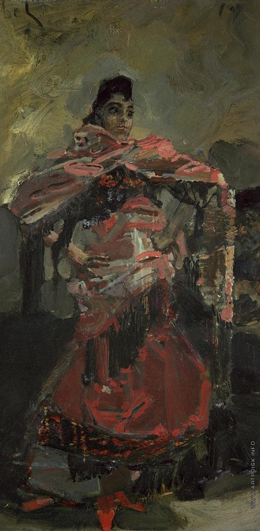 Врубель М. А. Испанка в красном