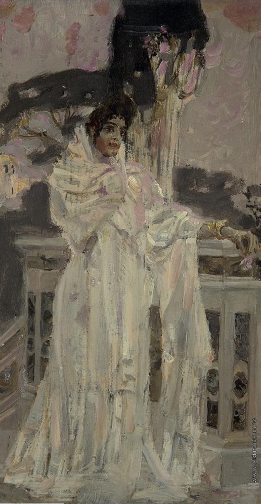 Врубель М. А. Испанка в белом