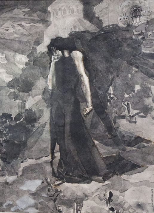Врубель М. А. Демон у стен монастыря