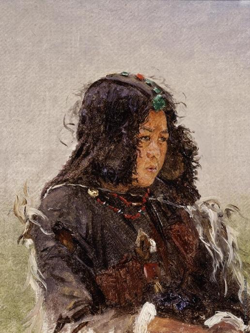 Верещагин В. В. Молодая женщина. Декан