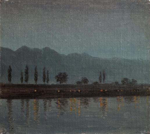 Верещагин В. В. Ночь на реке в Кашмире