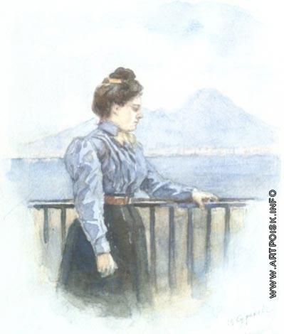 Суриков В. И. Портрет О.В. Суриковой, дочери художника