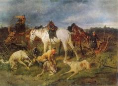 Сверчков Н. Е.  На охоте