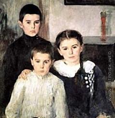 Беньков П. П. Портрет детей Ковалевских