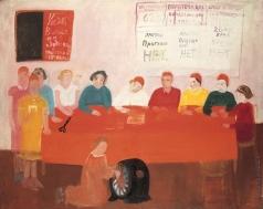 Рублев Г. И. Партийное собрание на фабрике