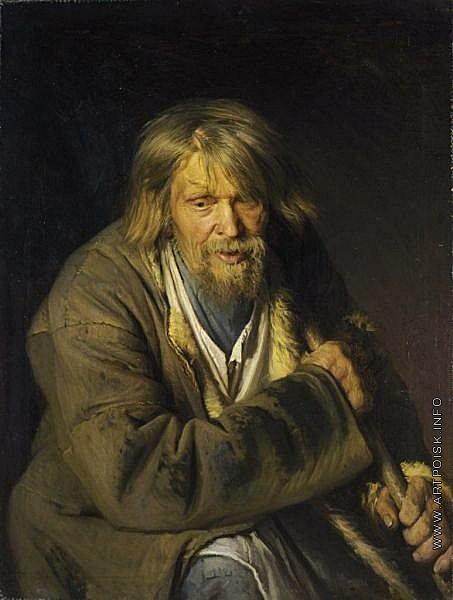 Крамской И. Н. Старик с костылем