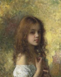 Харламов А. А. Портрет юной модели